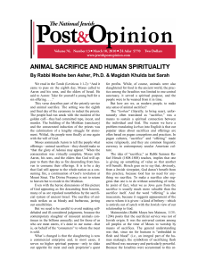animal sacrifice and human spirituality