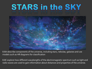 8.8A describe components of the universe, including stars, nebulae