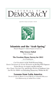 "Islamists and the ""Arab Spring"""