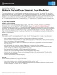 Malaria: Natural Selection and New Medicine