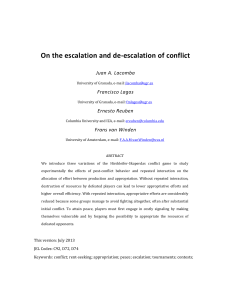 On the escalation and de-escalation of conflict