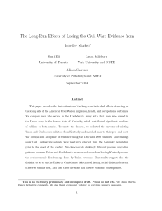 The Long-Run Effects of Losing the Civil War: Evidence from Border