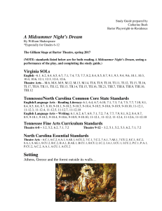 A Midsummer Night`s Dream Setting