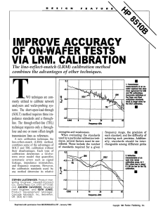 improve accuracy of on-wafer tests via lrm. calibration