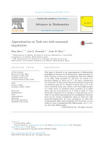 Approximation on Nash sets with monomial singularities