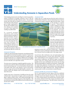 A585 Understanding Ammonia in Aquaculture Ponds