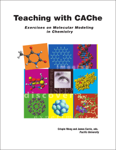 Teaching with CAChe - Photochemical Dynamics Group