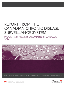 report from the canadian chronic disease surveillance