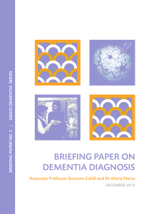 briefing paper on dementia diagnosis