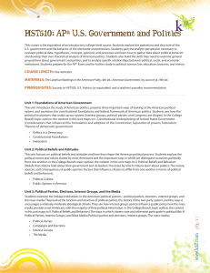 HST510: AP® US Government and Politics