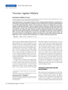 Vaccines Against Malaria - Oxford Academic