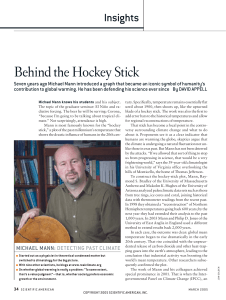 Behind the Hockey Stick - Page Contact: