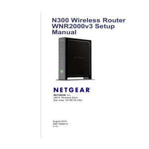 N300 Wireless Router WNR2000v3 Setup Manual