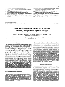 Food Protein-induced Enterocolitis: Altered Antibody