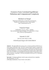 Extensive Form Correlated Equilibrium: Definition and
