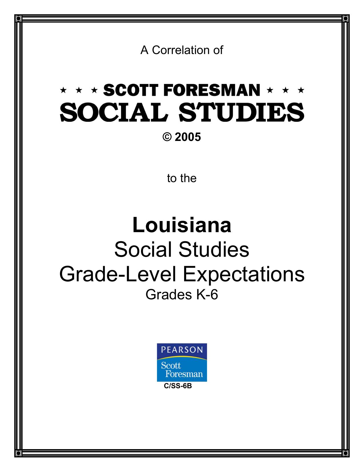 SCOTT FORESMAN SOCIAL STUDIES, copyright