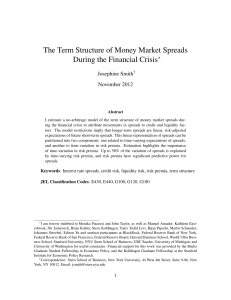 The Term Structure of Money Market Spreads