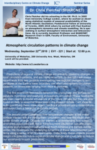 Atmospheric circulation patterns in climate change