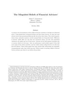 The Misguided Beliefs of Financial Advisors