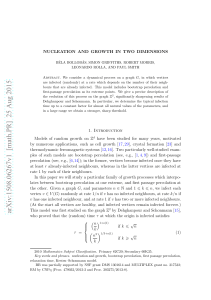 Nucleation and growth in two dimensions