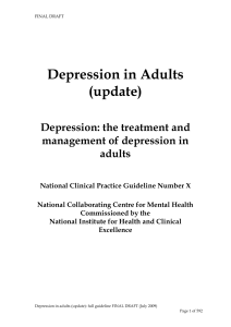 Depression in Adults (update)