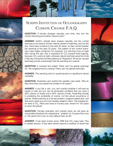 climate change faq - Scripps Institution of Oceanography
