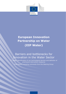 Barriers and bottlenecks for Innovation in the Water Sector