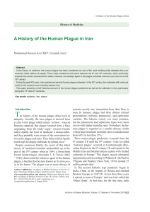 A History of the Human Plague in Iran