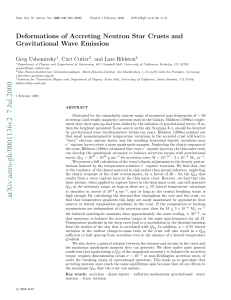 Deformations of Accreting Neutron Star Crusts and Gravitational