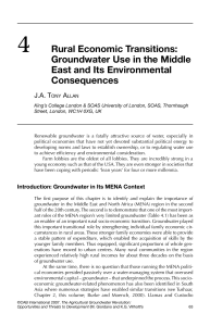 4 Rural Economic Transitions: Groundwater Use in the Middle East