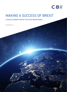 Making a Success of Brexit