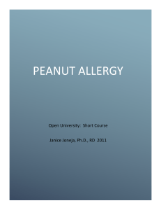 Peanut allergy Course Revised