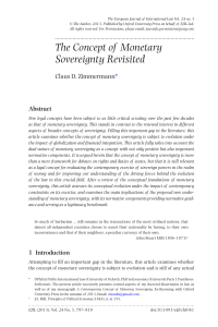 The Concept of Monetary Sovereignty Revisited