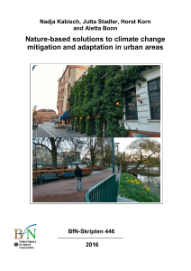Nature-based solutions to climate change mitigation and adaptation