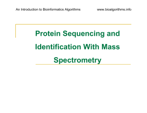 Protein Sequencing and Identification With Mass