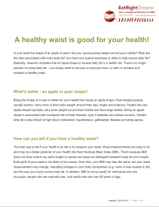 A healthy waist is good for your health!