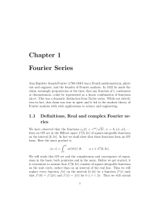 Chapter 1 Fourier Series