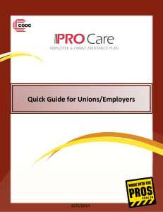Quick Guide for Unions/Employers