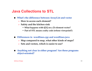 Java Collections to STL