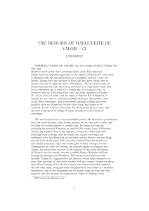 the memoirs of marguerite de valois - v3