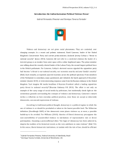 introduction - Political Perspectives Journal
