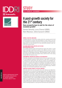A post-growth society for the 21st century. Does prosperity