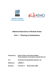 Network Extensions to Remote Areas : Part 1 Planning