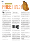 There`s No Such Thing As a Free Lunch