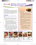 Building a Heart Healthy Diet with Lean Beef
