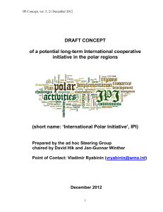 Concept Note on new polar cooperative activity