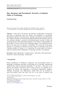 Dao, Harmony and Personhood: Towards a Confucian Ethics of