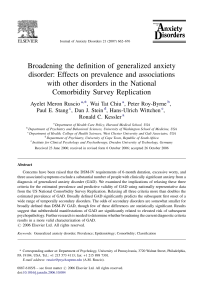 Broadening the definition of generalized anxiety disorder: Effects on