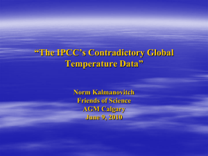 The IPCC`s Contradictory Global Temperature Data