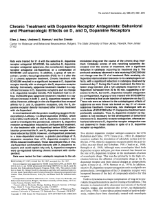 Chronic Treatment with Dopamine Receptor Antagonists
